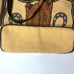 "El Paso Saddle Blanket Co Bags - El Paso Saddle Blanket Co. Stenciled bag - ""Boots"""